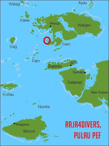 Karte Raja Ampat