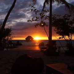 ... Sonnenuntergang / Sunset Lounge Raja4Divers