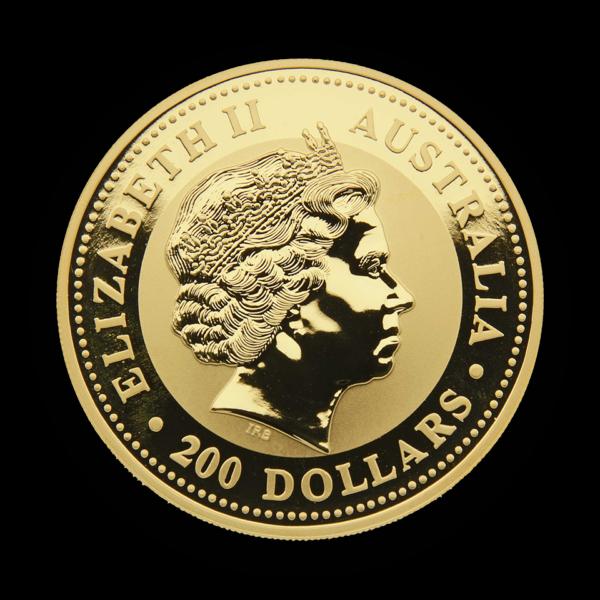 gold 9999 2oz australien 2003 goat back