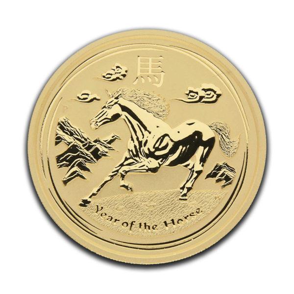gold 9999 2oz australien 2014 horse front