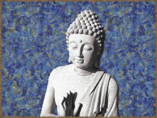 buddha van gogh art 1