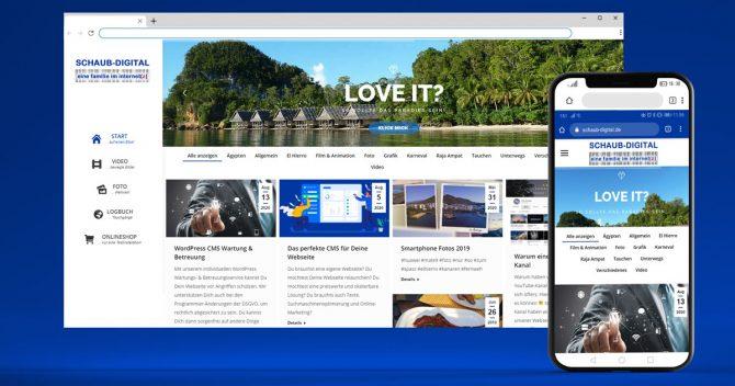 Unser Blog - Desktop & Mobile